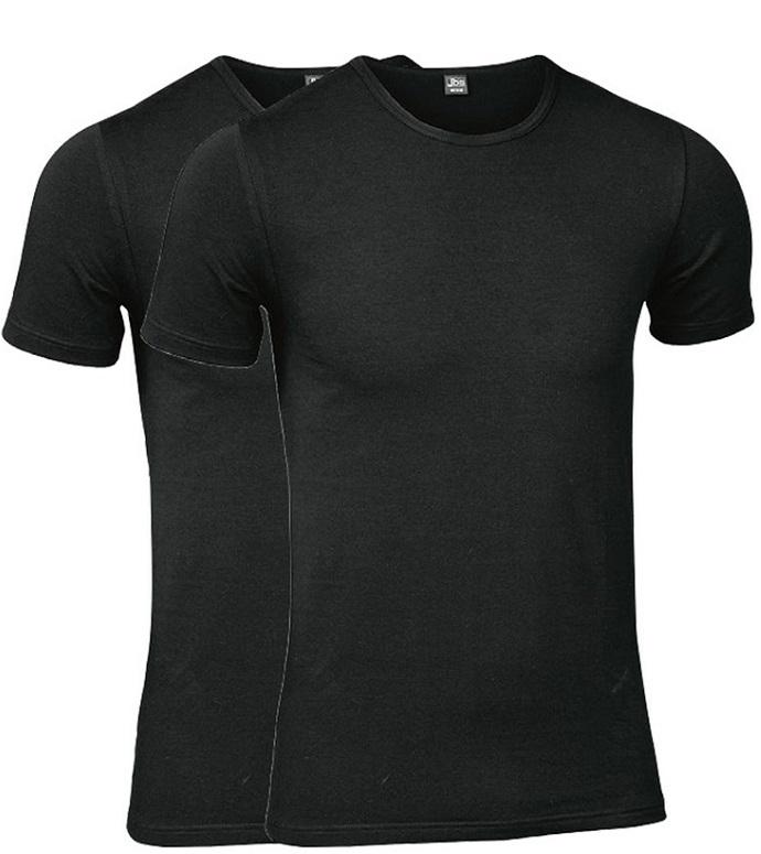 Sorte JBS T-Shirts, 2-Pak - Rund Hals