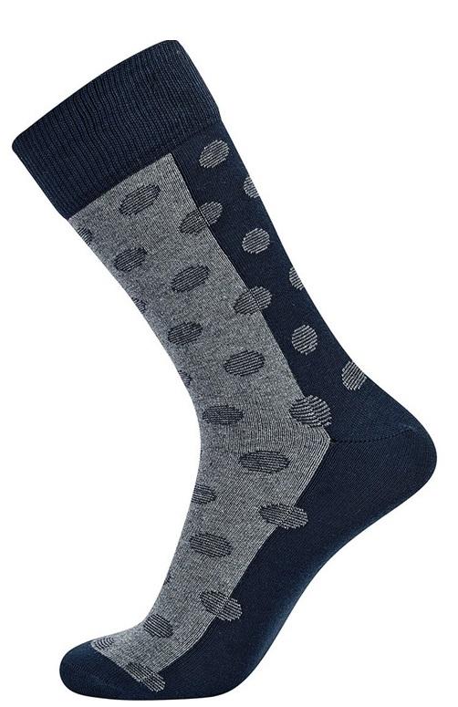 jbs Mørkeblå / grå jbs strømper med prikker str. 40-47 fra Edgy