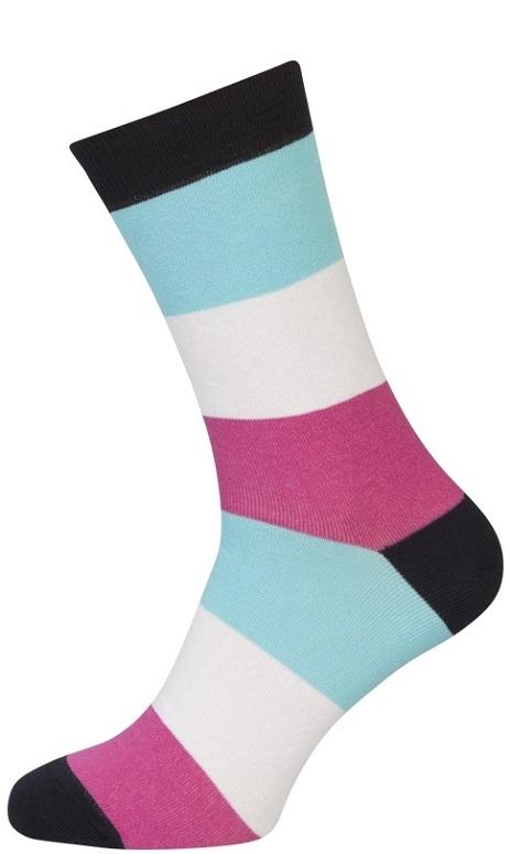 shopwithsocks Stribede sokker - str. 35-38 fra shopwithsocks
