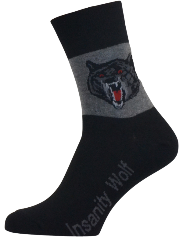 Insanity wolf sokker - str. 43-46 fra shopwithsocks fra shopwithsocks