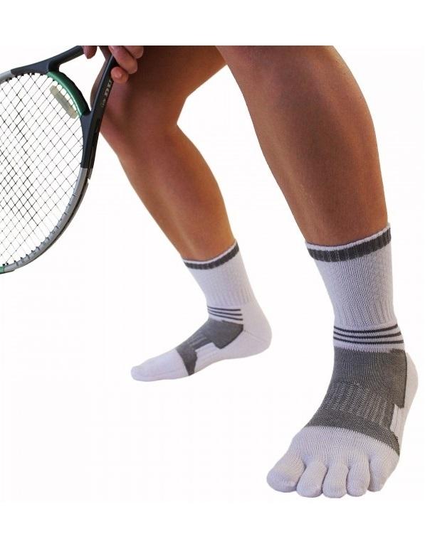 toetoe – Toetoe tennisstrømper med adskilte tæer - hvid - str. 43-46 på shopwithsocks