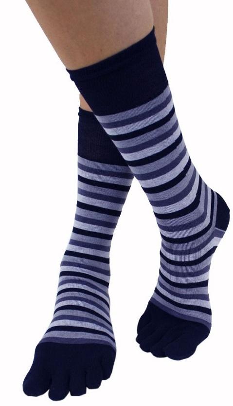 toetoe – Tåsokker, toetoe essential mid-calf blue ocean - str. 41-48 fra shopwithsocks