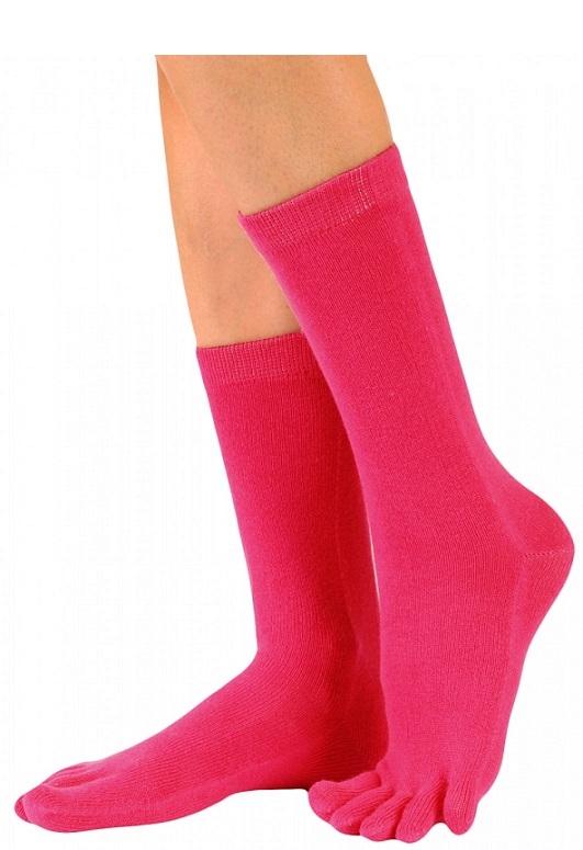 toetoe essential tåstrømper mid-calf pink str. 35-46 fra toetoe
