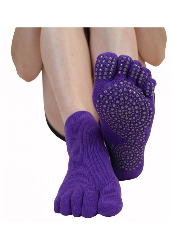 toetoe – Skridsikre tåstømper toetoe yoga & pilates trainer lilla str. 36-39 på shopwithsocks