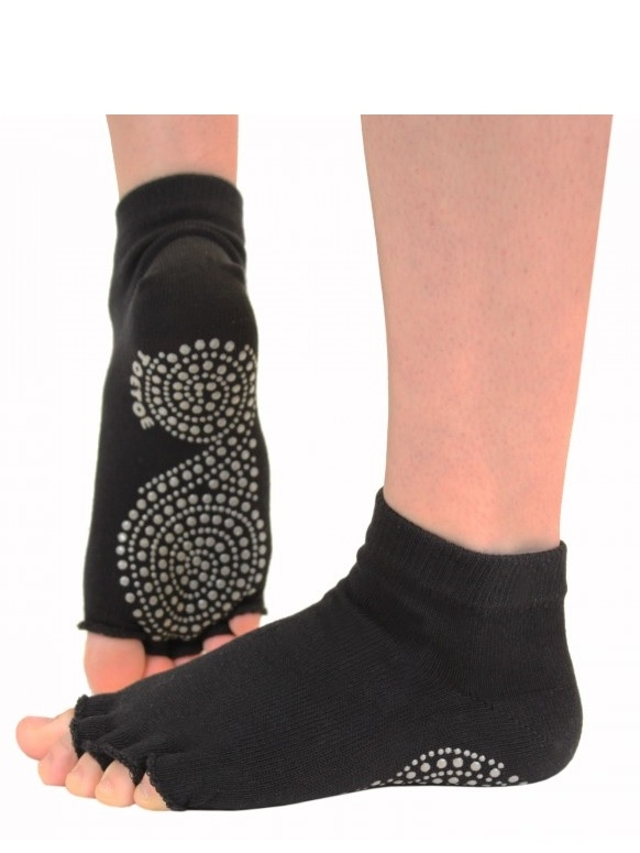 toetoe – Toetoe yoga & pilates anti-slip open toes str. 44-47 fra shopwithsocks