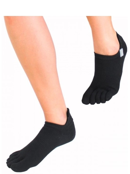 toetoe – Toetoe sports running trainer løbe-tåsokker sort str. 44-47 fra shopwithsocks
