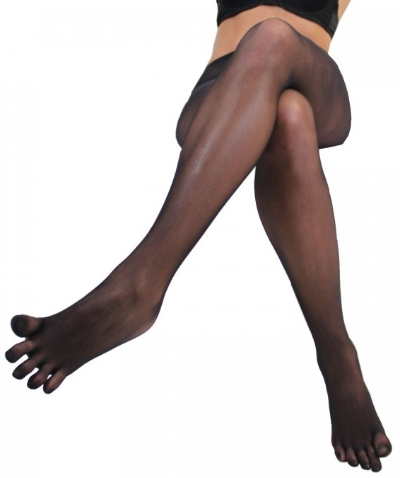 ToeToe Plain Nylon Tights Sort Str. Unisize / 35-42