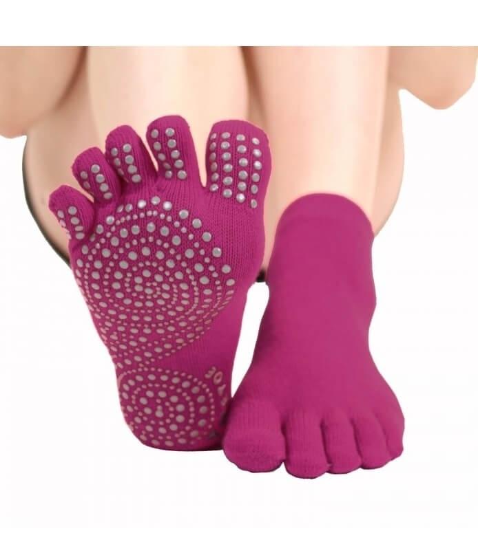 toetoe – Skridsikre tåstømper toetoe yoga & pilates trainer pink str. 36-39 fra shopwithsocks