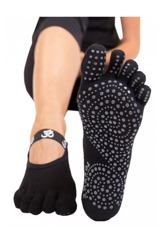 Toetoe yoga & pilates foot cover anti-slip sort fra toetoe på shopwithsocks
