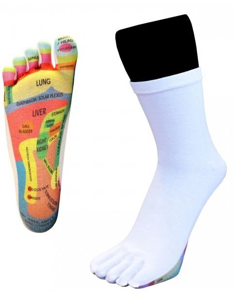 Toetoe reflexology / zoneterapi tå-strømper str. 36-43 fra toetoe på shopwithsocks